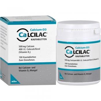 Calcilac Kautabletten 500 mg/400 I.E. - 100St.