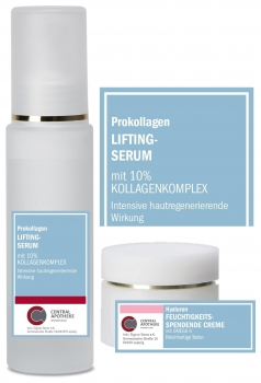 Prokollagen Lifting Serum 50ml + Hyaluron Creme reichhaltig 20ml gratis